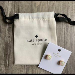kate spade Jewelry - Kate Spade Glitter Opal Gold Earrings